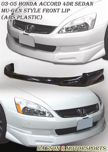 MU Style Front Lip For 2003-2005 Honda Accord 4 Dr - Bayson R Motorsports