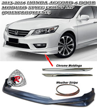 Load image into Gallery viewer, 13-15 Honda Accord 4-Door Sedan Modulo Style Front Lip (Polypropylene)