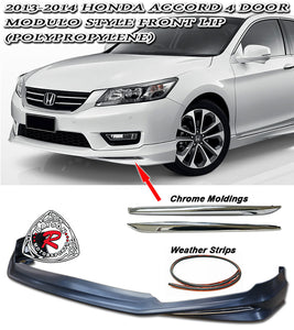 13-15 Honda Accord 4-Door Sedan Modulo Style Front Lip (Polypropylene)