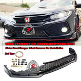 TR Style Front Lip w/ Lower Grille For 2017-2020 Honda Civic Si - Bayson R Motorsports