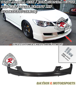MU Style Front Lip For 2006-2008 Honda Civic 4Dr (JDM) - Bayson R Motorsports