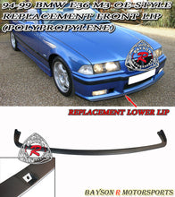 Load image into Gallery viewer, 94-99 BMW E36 M3 OE-Style Replacement Front Lip (Polypropylene)