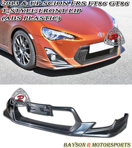 12-16 Scion FR-S FRS FT86 GT86 T-Style Front Bumper Lip (ABS) - Bayson R Motorsports