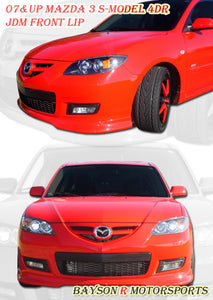 "07-09 Mazda 3 4dr S-Model ""ONLY"" JDM Style Front Lip (ABS Plastic)"