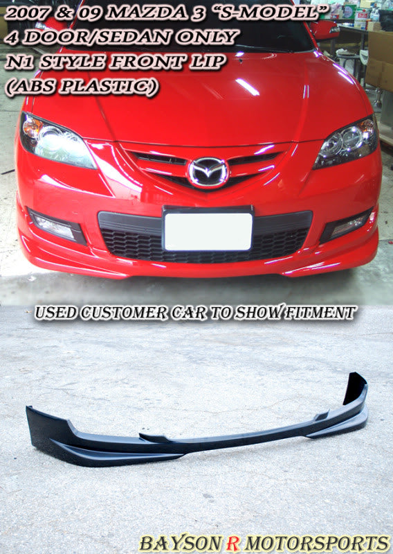 07-09 Mazda 3 4dr S-Model N1 Front Bumper Lip (ABS)