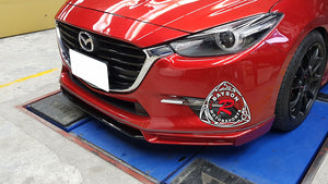 17-18 Mazda 3 MK Style Front Lip (ABS Plastic)