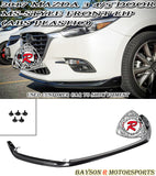 17-18 Mazda 3 MS Style Front Lip (ABS Plastic) - Bayson R Motorsports