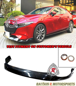 MZ Style Front Lip For 2019-2021 Mazda 3 5DR - Bayson R Motorsports