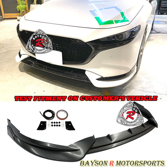 TH Style Front Lip For 2019-2021 Mazda 3 5DR - Bayson R Motorsports