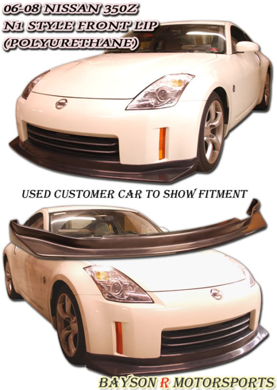 N1 Style Front Lip For 2006-2009 Nissan 350Z - Bayson R Motorsports