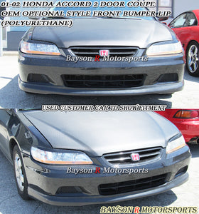 OE Style Front Lip For 2001-2002 Honda Accord 2Dr - Bayson R Motorsports