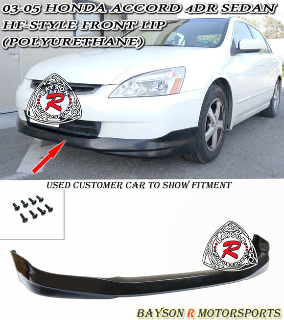 HF Style Front Lip For 2003-2005 Honda Accord 4Dr - Bayson R Motorsports