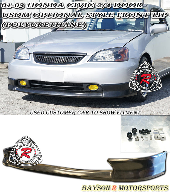 HF Style Front Lip For 2001-2003 Honda Civic - Bayson R Motorsports