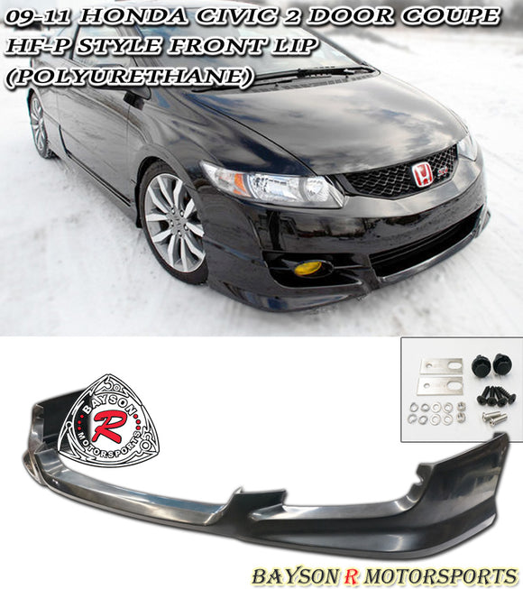 HF Style Front Lip For 2009-2011 Honda Civic 2Dr - Bayson R Motorsports