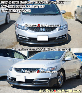 MU Style Front Lip For 2009-2011 Honda Civic 2Dr - Bayson R Motorsports