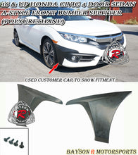 Load image into Gallery viewer, 16-18 Honda Civic 4dr Sedan A Style Front Splitters (Polyurethane)