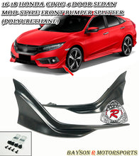 Load image into Gallery viewer, 16-18 Honda Civic 4-Door Sedan Modulo-Style Front Splitter Lip (Polyurethane)