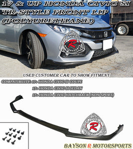 TR Style Front Lip For 2017-2021 Honda Civic Si - Bayson R Motorsports