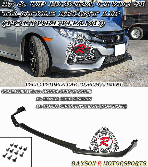 TR Style Front Lip For 2017-2020 Honda Civic Si - Bayson R Motorsports