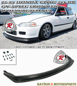 GV Style Front Lip For 1992-1995 Honda Civic 2Dr / 3Dr - Bayson R Motorsports