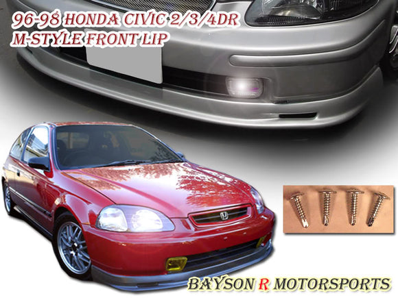 MU Style Front Lip For 1996-1998 Honda Civic - Bayson R Motorsports