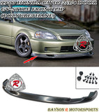 GV Style Front Lip For 1999-2000 Honda Civic - Bayson R Motorsports