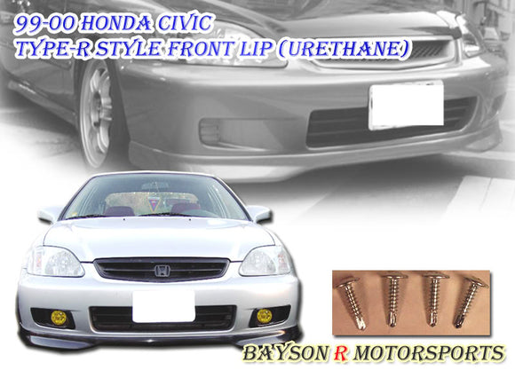 TR Style Front Lip For 1999-2000 Honda Civic - Bayson R Motorsports