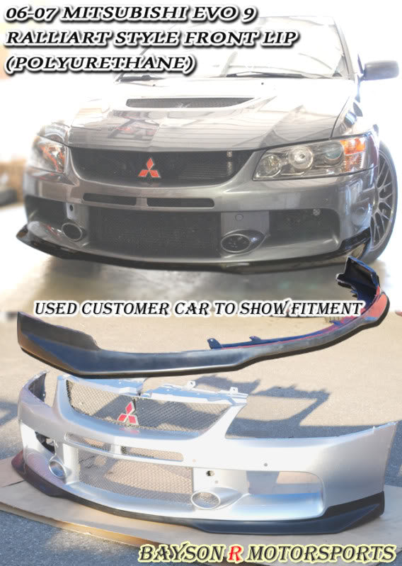 Ral Style Front Lip For 2006-2007 Mitsubishi Evolution 9 - Bayson R Motorsports