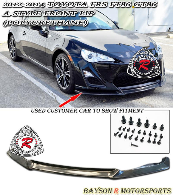 12-16 Scion FR-S / Toyota 86 A-Style Front Lip + A-Style Rear Lip Aprons (Polyurethane) - Bayson R Motorsports