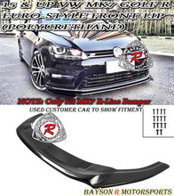 Load image into Gallery viewer, 15-17 Volkswagen Golf R MK7 Euro-Style Front Bumper Lip (Polyurethane) [ Golf R ONLY ]