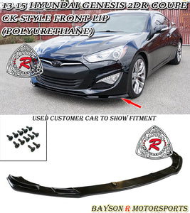 CK Style Front Lip For 2013-2016 Hyundai Genesis 2Dr - Bayson R Motorsports