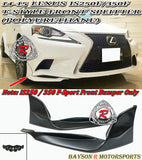 T Style Front Splitters For 2014-2016 Lexus IS - Bayson R Motorsports