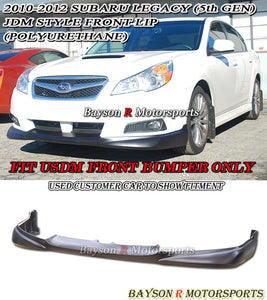 JDM Style Front Lip For 2010-2012 Subaru Legacy - Bayson R Motorsports