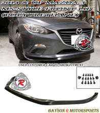 Load image into Gallery viewer, 14-16 Mazda 3 MS Style Front Lip (Polyurethane)