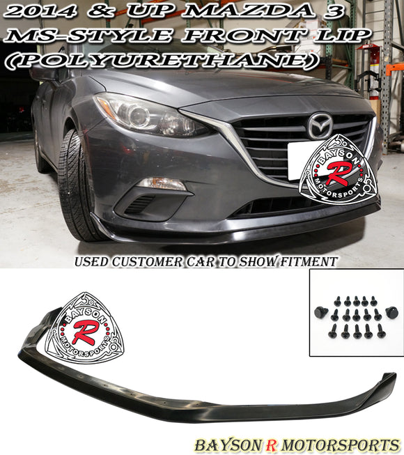 MS Style Front Lip For 2014-2016 Mazda 3 - Bayson R Motorsports