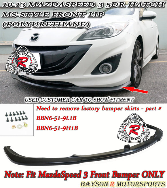 MS Style Front Lip For 2010-2013 MazdaSpeed3 - Bayson R Motorsports