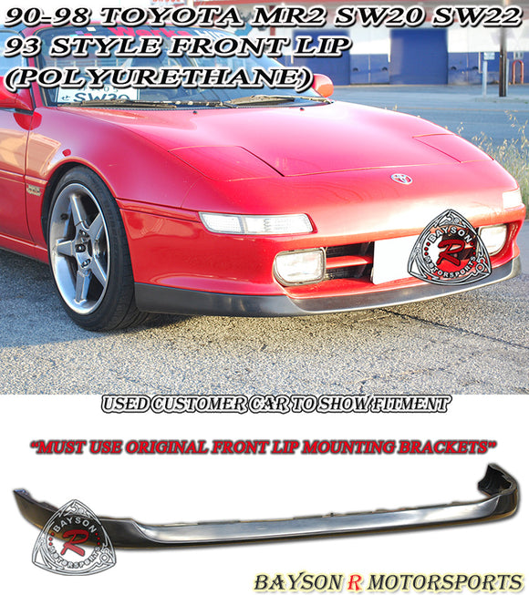93 Style Front Lip For 1990-1998 Toyota MR2 - Bayson R Motorsports