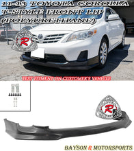 Load image into Gallery viewer, 11-13 Toyota Corolla T-Style Front Lip (Polyurethane)