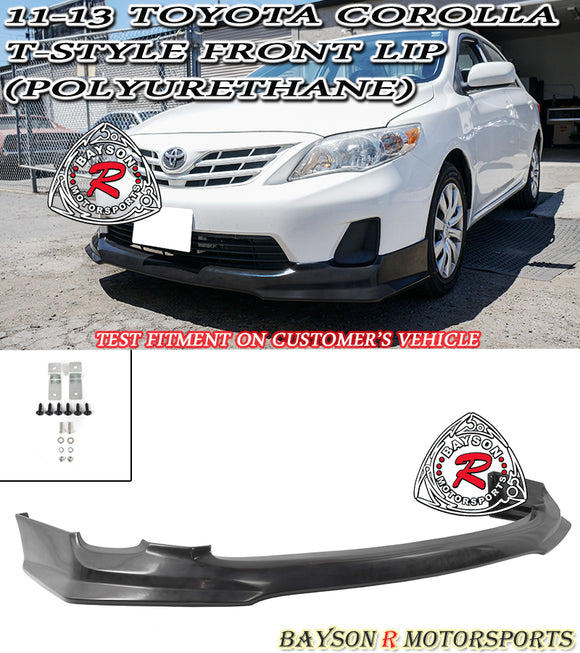 T Style Front Lip For 2011-2013 Toyota Corolla - Bayson R Motorsports