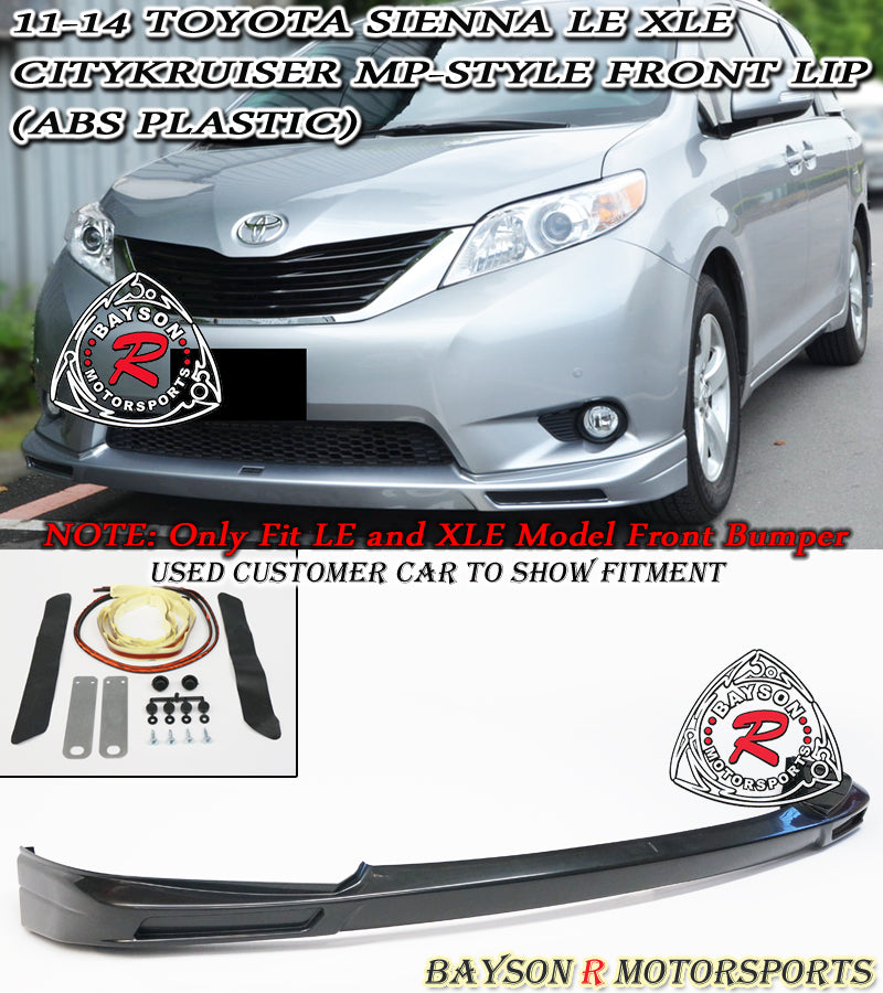 11-17 Toyota Sienna LE XLE Citykruiser MP Style Front Lip (ABS) (Non SE Model)