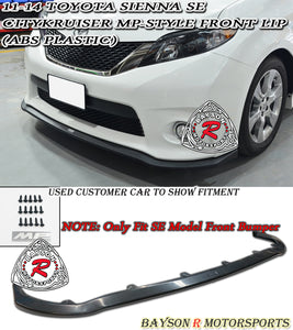 11-17 Toyota Sienna Citykruiser MP-Style Front Bumper Lip (ABS) (SE Model Only)