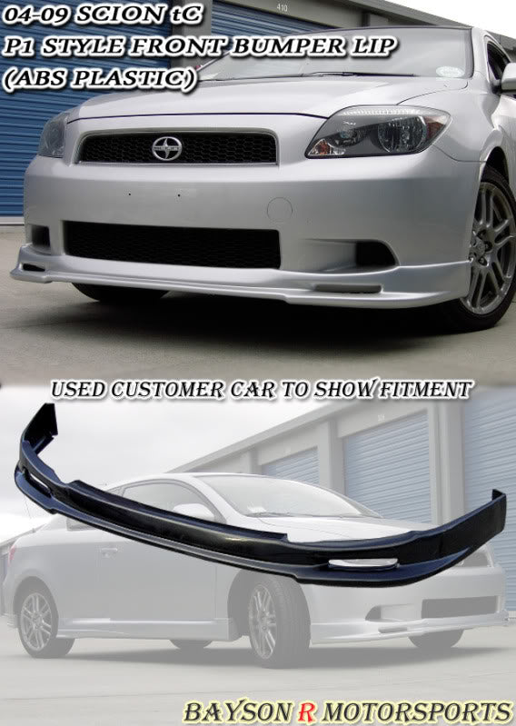 05-10 Scion tC P1 RS Front Bumper Lip (ABS)