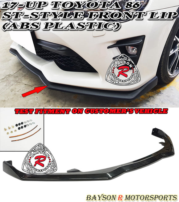 17-20 Toyota 86 ST-Style Front Lip (ABS Plastic) - Bayson R Motorsports