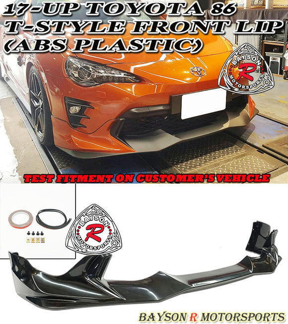 17-20 Toyota 86 T-Style Front lip (ABS Plastic) - Bayson R Motorsports