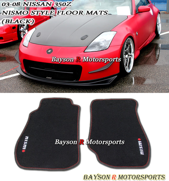 03-09 Nissan 350z Nis-mo Style Racing Floor Mats Carpets Set (Black)
