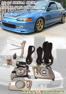 Foglights Kit For 1992-1995 Honda Civic 2Dr / 3Dr - Bayson R Motorsports