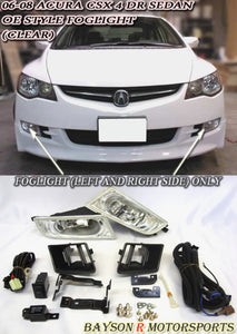 Foglights Kit For 2006-2008 Honda Civic (JDM Spec) / Acura CSX 4Dr - Bayson R Motorsports