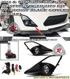 12-16 Scion FR-S JDM Fog Light Kit (Clear) + Gloss Black Bezel Covers - Bayson R Motorsports