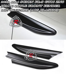 12-16 Scion FR-S JDM T-Style Front Fender Fin Garnish (ABS Plastic)