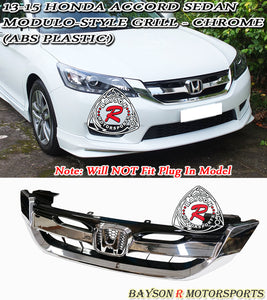 13-15 Honda Accord 4Dr Modulo-Style Chrome Grill (ABS Plastic)